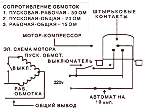 схема сопротивление обмоток